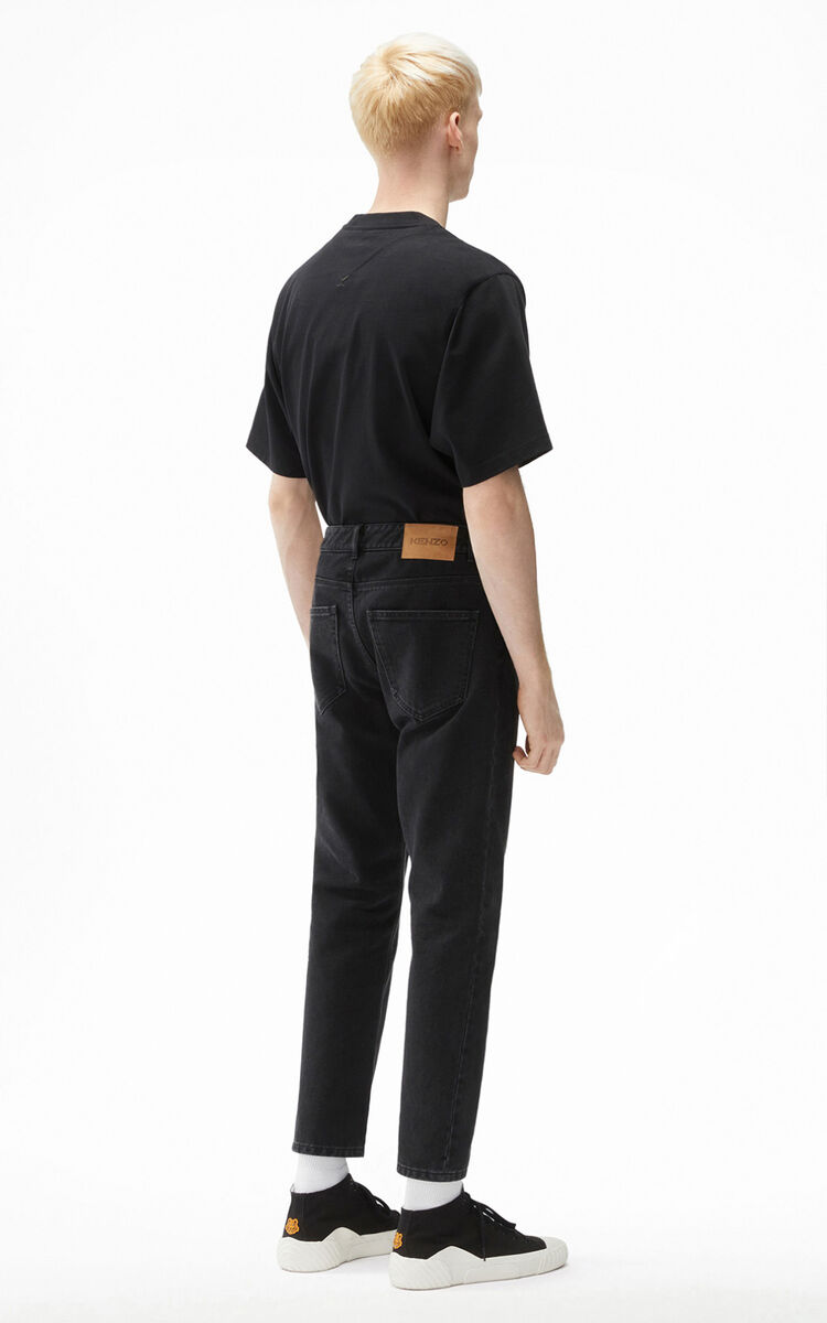 BLACK Cropped jeans for men KENZO