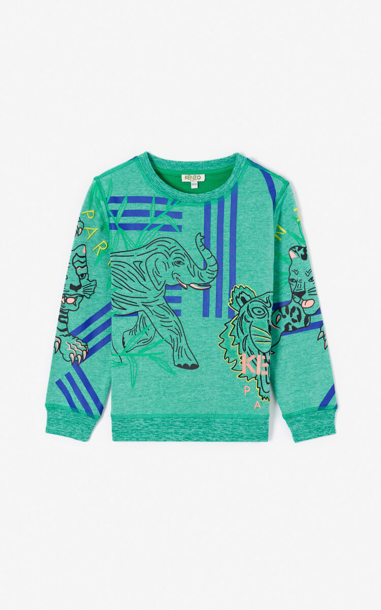 MINT 'Disco Jungle' multi-icon sweatshirt for men KENZO