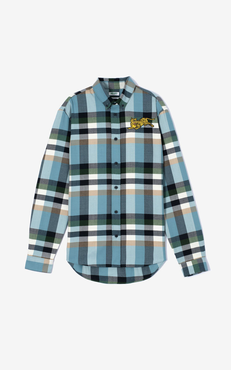 PINE Casual checked 'Jumping Tiger' shirt for women KENZO