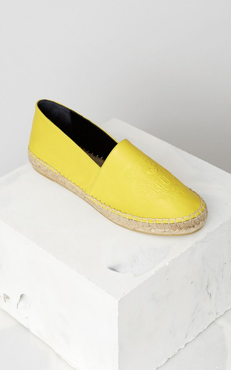 HONEY Leather Tiger Espadrilles for women KENZO