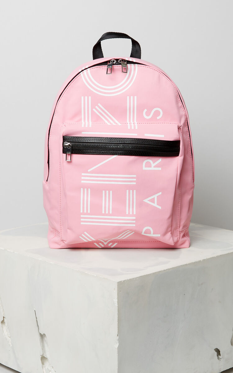 FLAMINGO PINK Large KENZO Logo backpack for women
