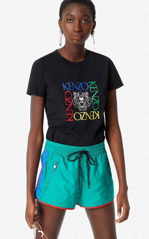 BLACK 'Tiger Square' t-shirt for women KENZO