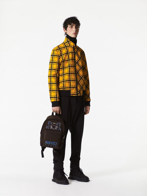 BLACK Bold Check' reversible bomber jacket.  for men KENZO
