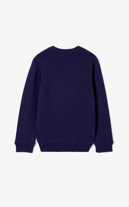 NAVY BLUE Tiger sweatshirt for unisex KENZO