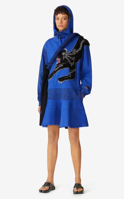 ROYAL BLUE KENZO x KANSAIYAMAMOTO 'Black Puma' dress for women