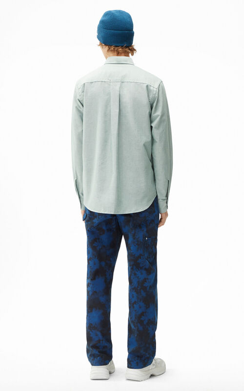 GREEN Tiger Crest casual shirt for men KENZO