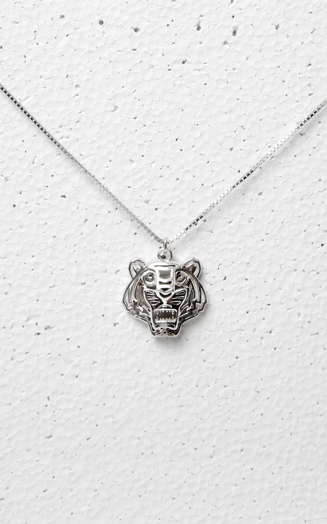 3D Tiger Necklace, SILVER, KENZO