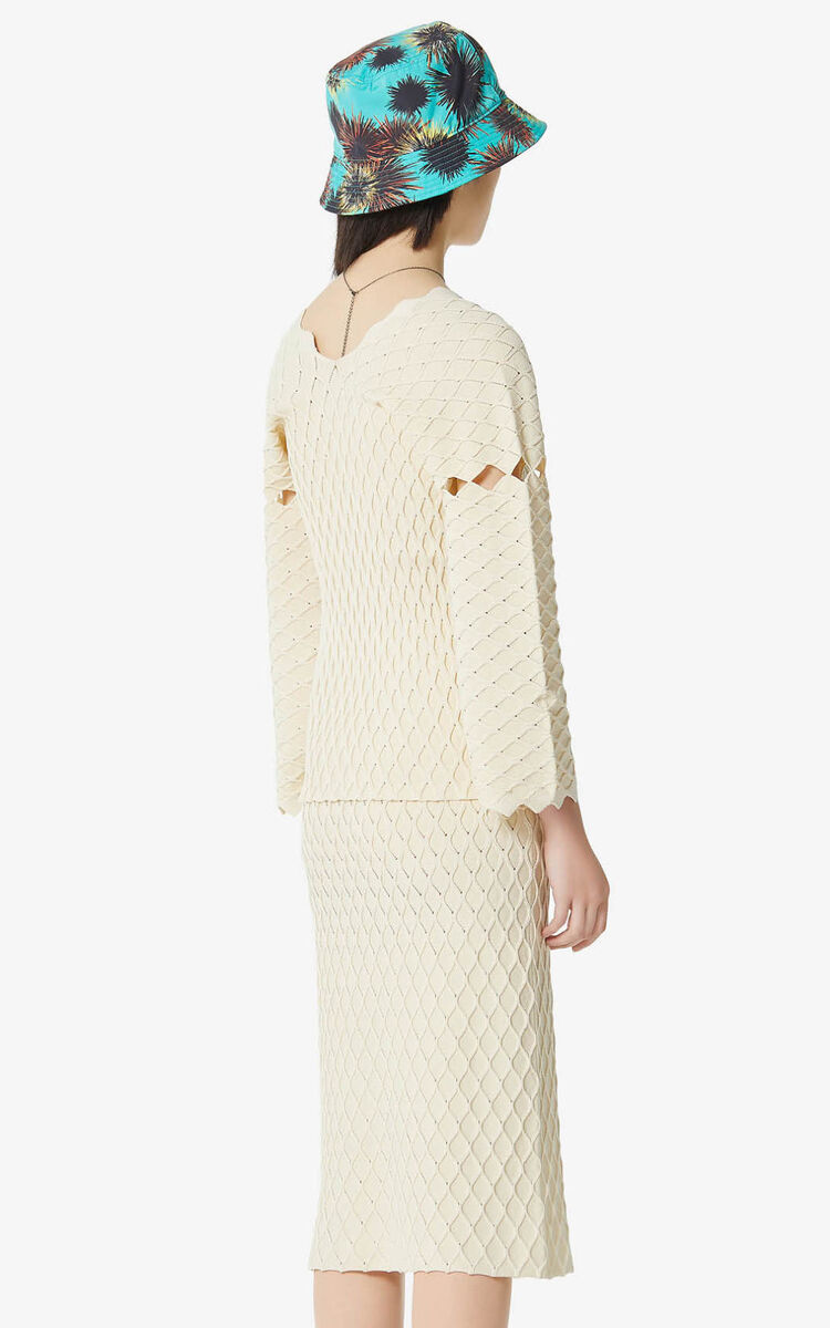 OFF WHITE 'High Summer Capsule Collection' textured cardigan for women KENZO