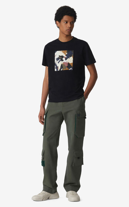BLACK K Logo t-shirt for men KENZO