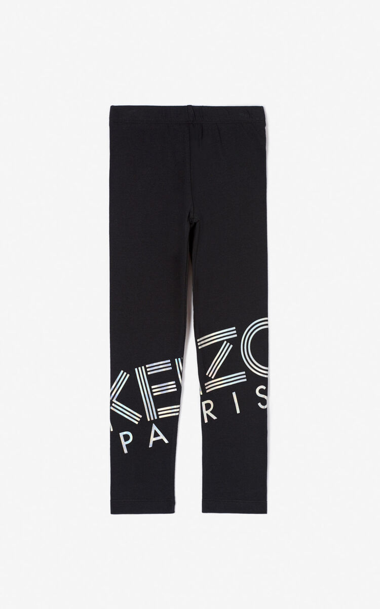 BLACK KENZO logo leggings  for women