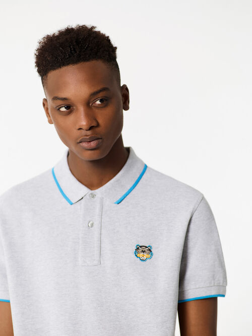PALE GREY Regular Polo Shirt for men KENZO
