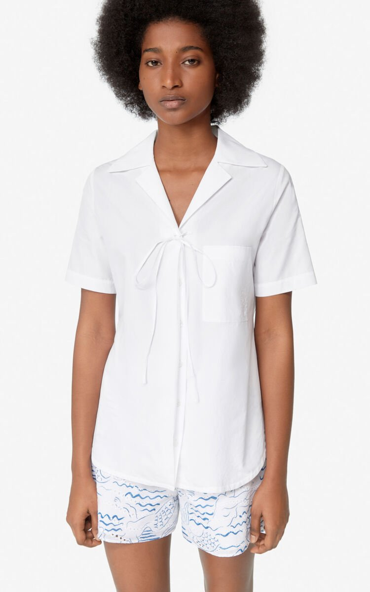 WHITE Knotted shirt for women KENZO
