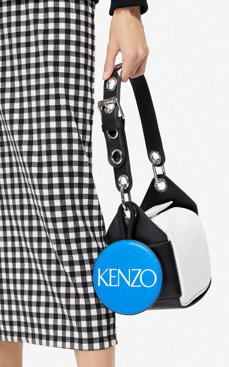 WHITE Mini hobo leather bag for women KENZO