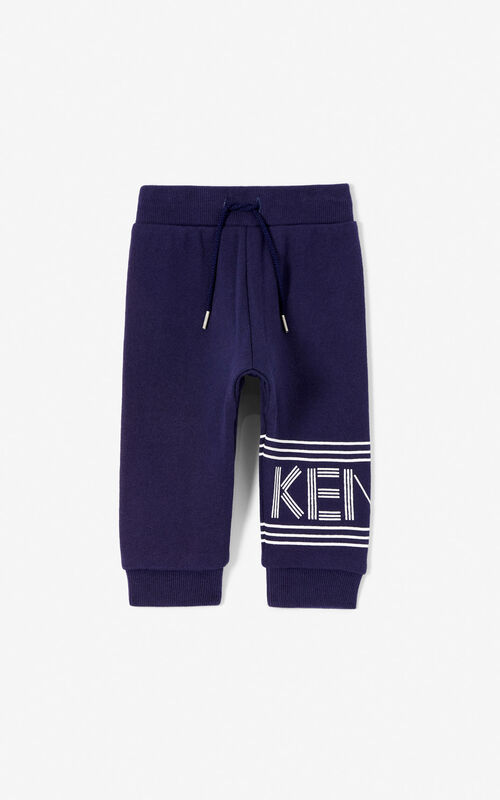 NAVY BLUE Joggers with Kenzo logo for unisex