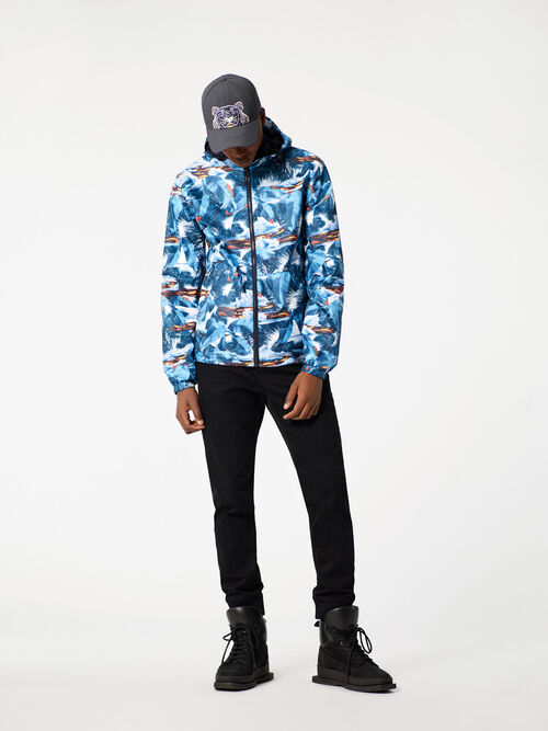 NAVY BLUE Reversible 'Tropical Ice' Windbreaker for men KENZO