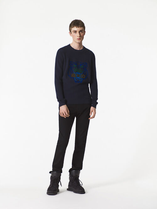 BLACK Biker Jeans for men KENZO