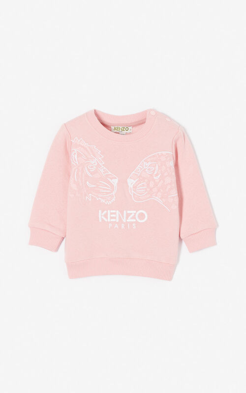 FLAMINGO PINK 'Fantastic Jungle' sweatshirt for women KENZO