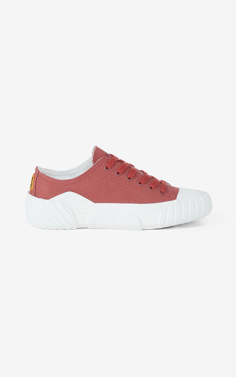 DARK ROSE Canvas Tiger Crest trainers   for women KENZO