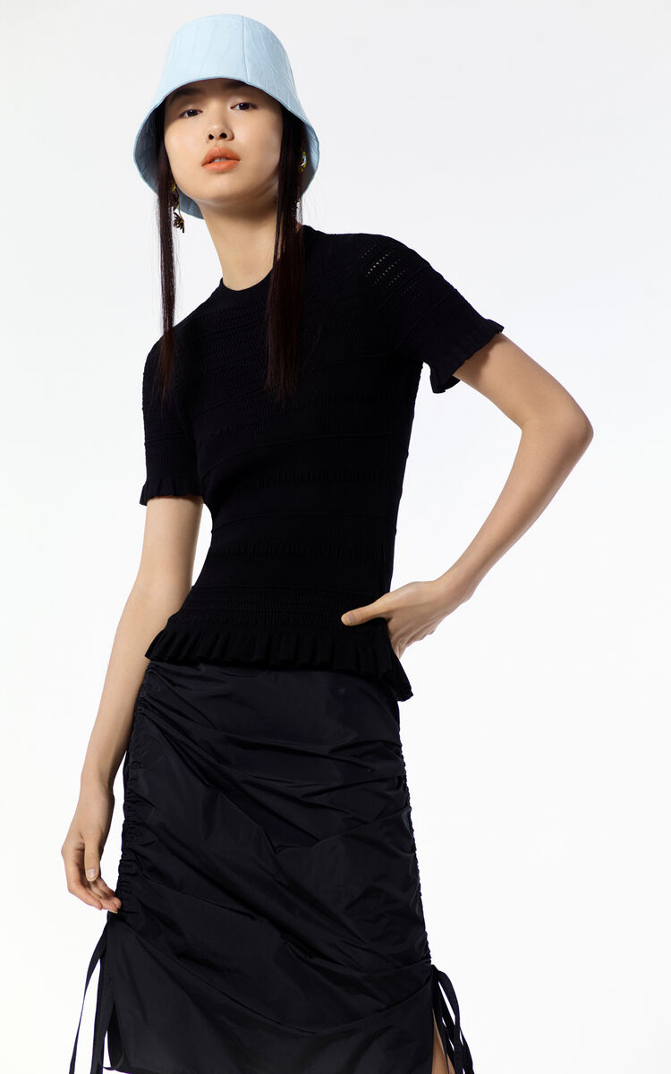 BLACK Trompe l'oeil jumper for women KENZO
