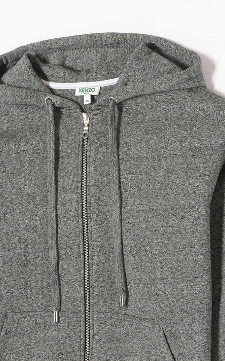 ANTHRACITE KENZO Logo hoodie for women