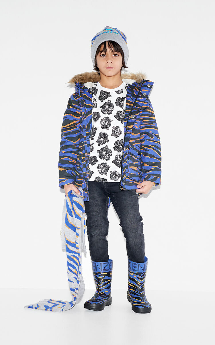 MIDDLE GREY Tiger Stripes 'beannie for men KENZO