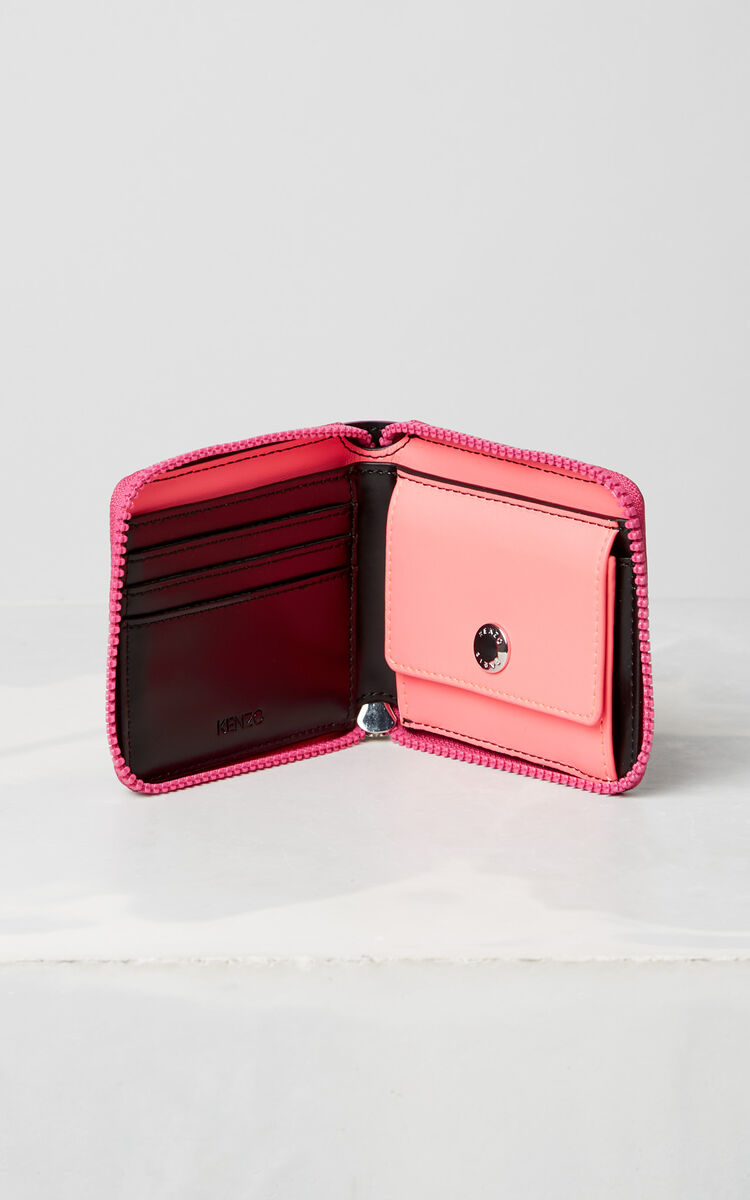DEEP FUSCHIA Squared Tiger purse for unisex KENZO