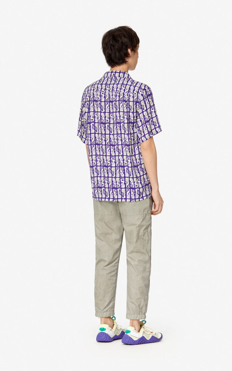 AUBERGINE 'Mermaids' shirt  for men KENZO