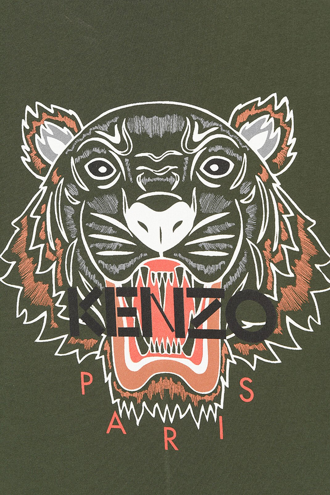 DARK KHAKI Tiger T-shirt for men KENZO