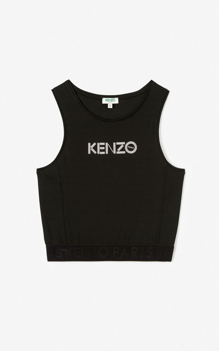 BLACK KENZO logo brassiere   for women