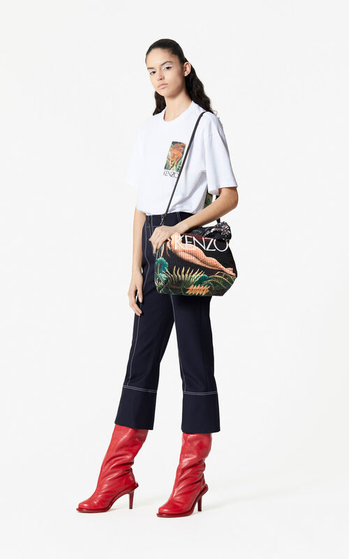 BLACK Large bucket bag for women KENZO
