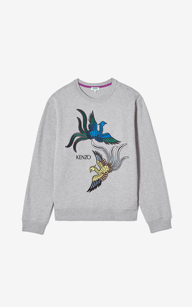 PEARL GREY 'Flying Phoenix' sweatshirt for men KENZO