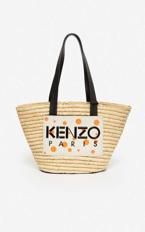 WHITE 'Dots' Summer Basket for unisex KENZO