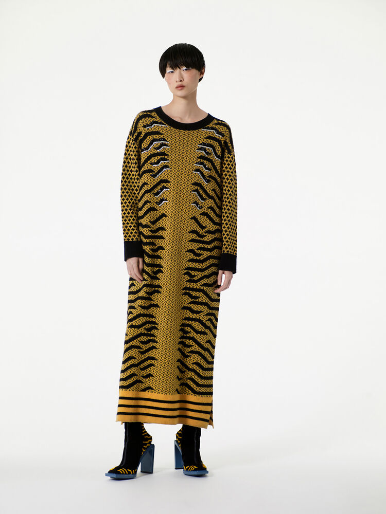 MARIGOLD Geo Tiger' Midi Dress for women KENZO