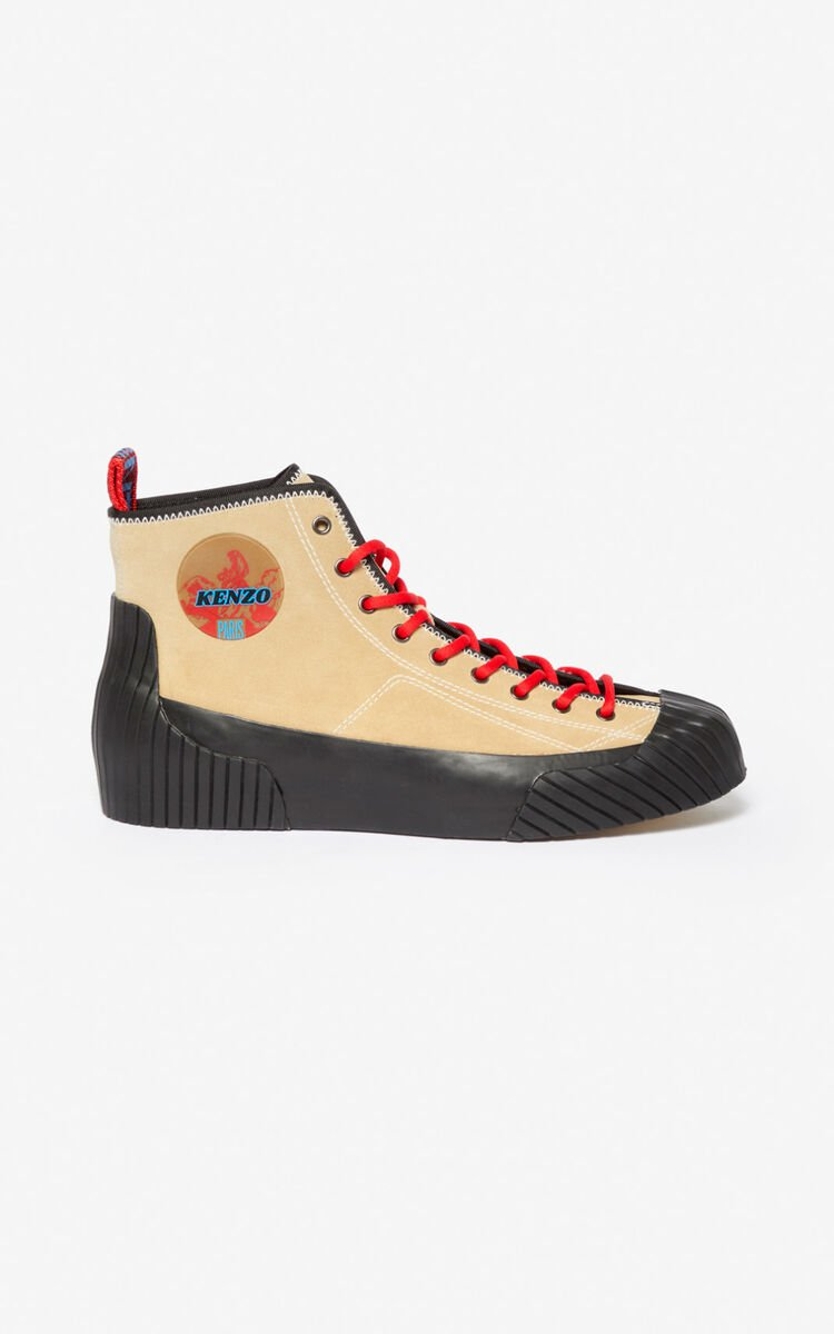 PALE CAMEL Volkano high-top sneakers for unisex KENZO