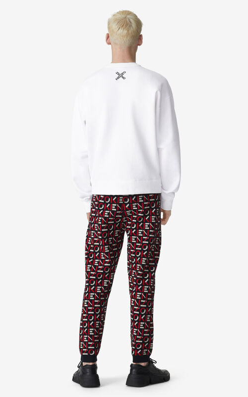 WHITE KENZO Sport 'Big X' sweatshirt for men