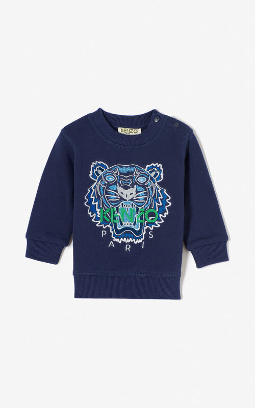 NAVY BLUE Tiger sweatshirt for men KENZO