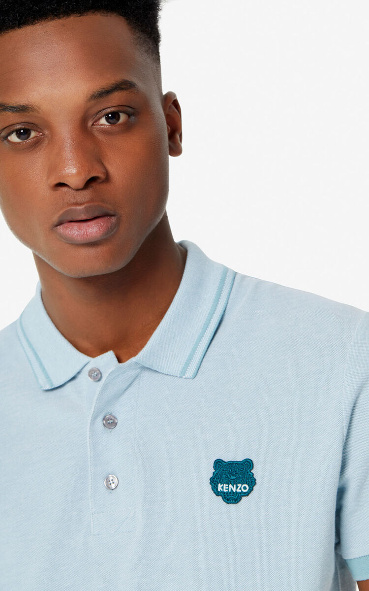 TEA GREEN Fitted Tiger polo shirt for men KENZO