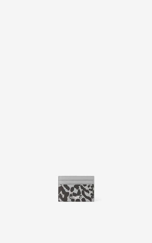 ANTHRACITE Leather card holder for unisex KENZO