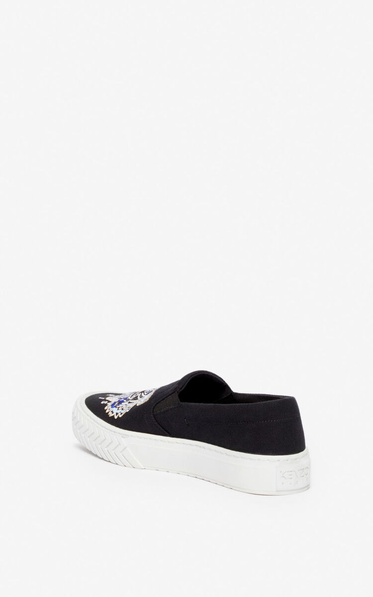 BLACK K-Skate Tiger slip-ons for women KENZO