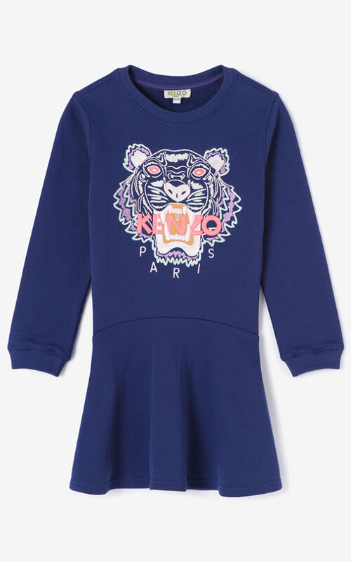 PURPLE Tiger Skater Dress for women KENZO