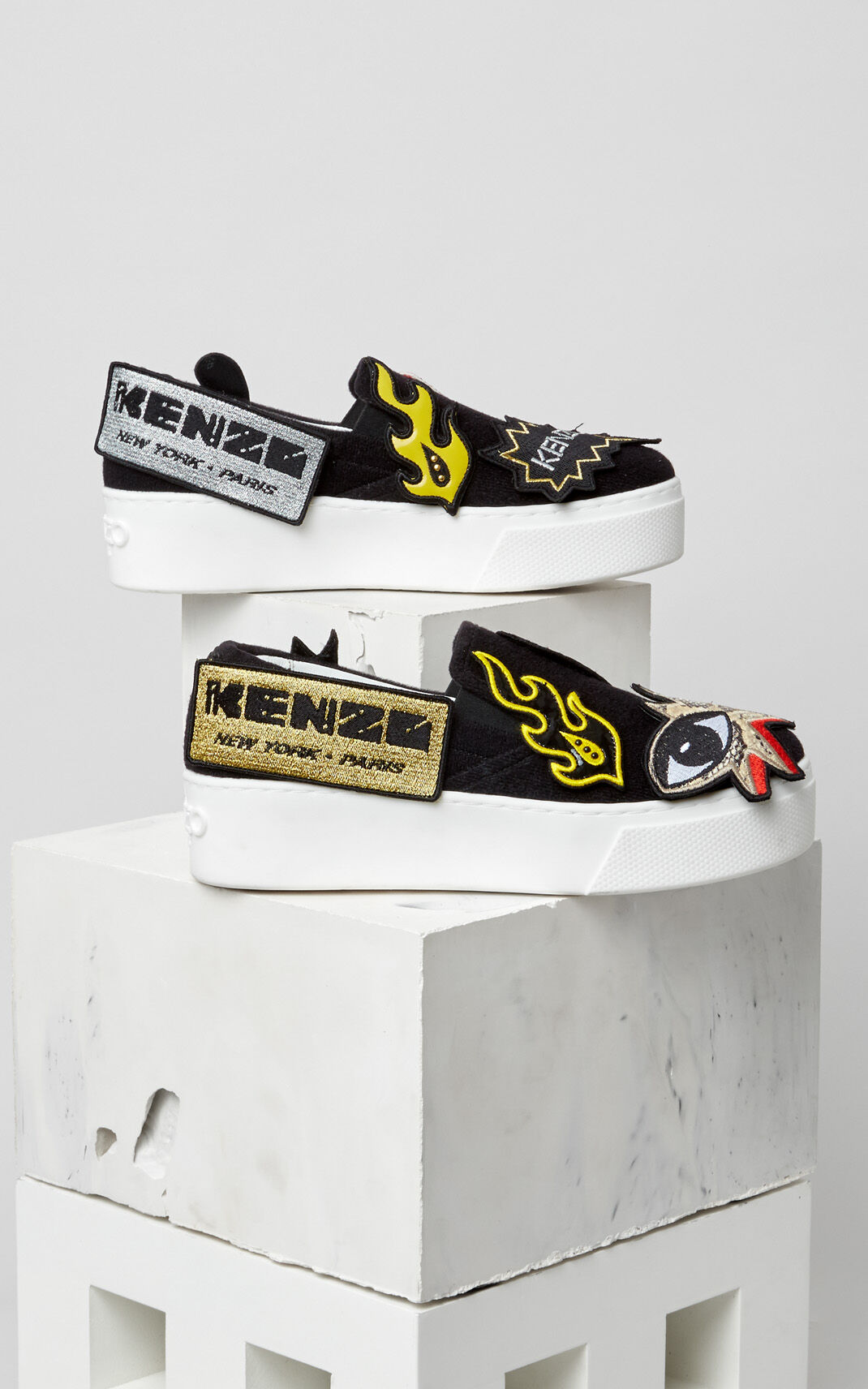 BLACK K-Patch Slip-on Badges for global.none KENZO