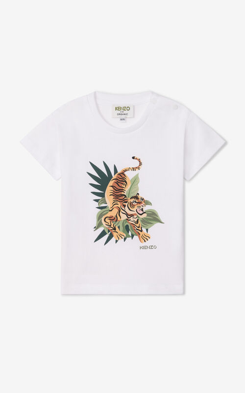 OFF WHITE 'Jumping Tiger' t-shirt for unisex KENZO