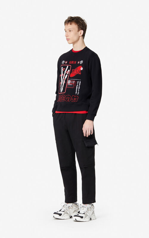 BLACK 'Rice Bags' sweatshirt for women KENZO
