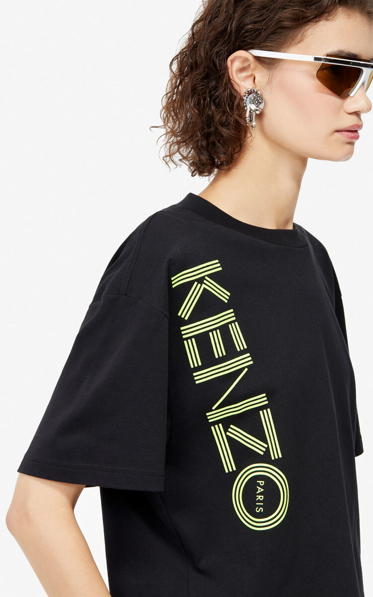 BLACK Boxy KENZO Logo t-shirt for women