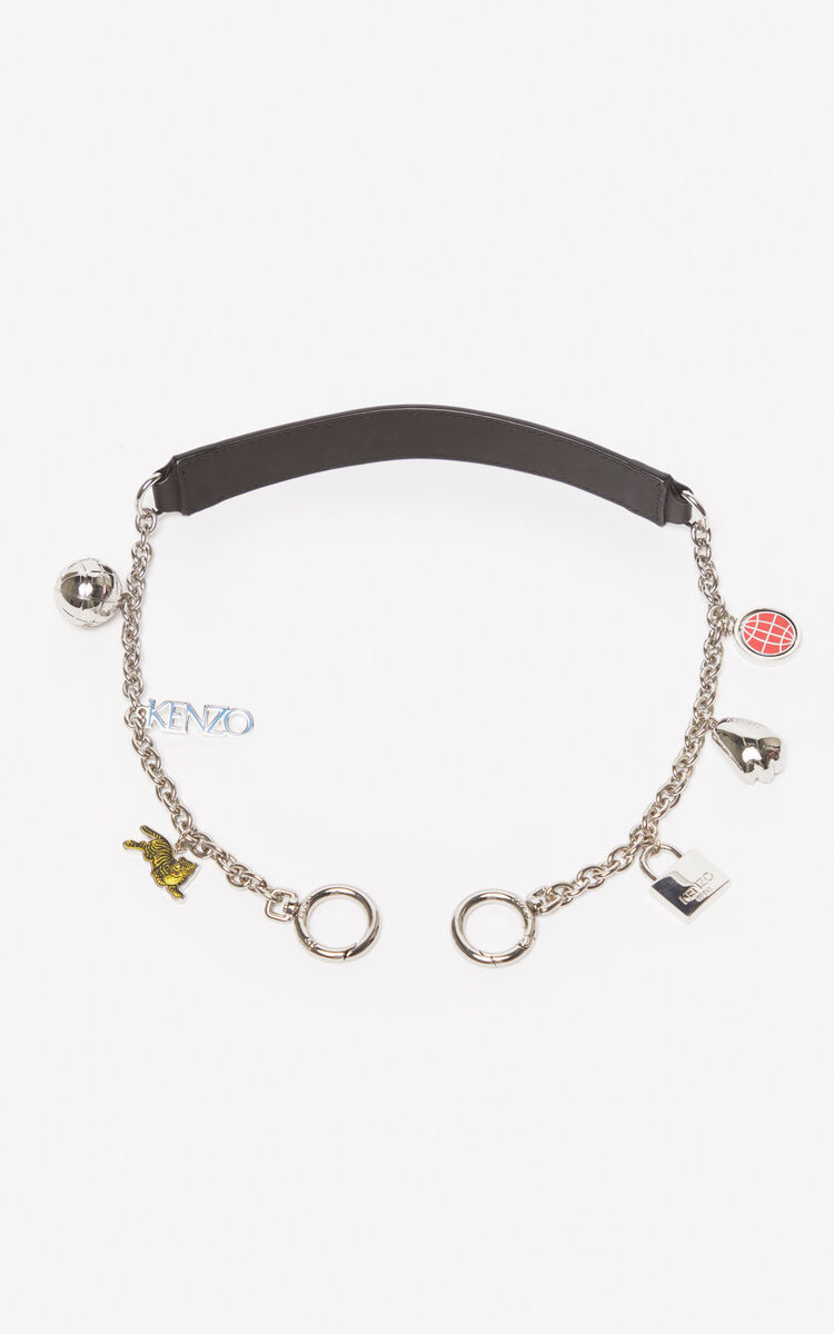 BLACK Chain shoulder strap for unisex KENZO