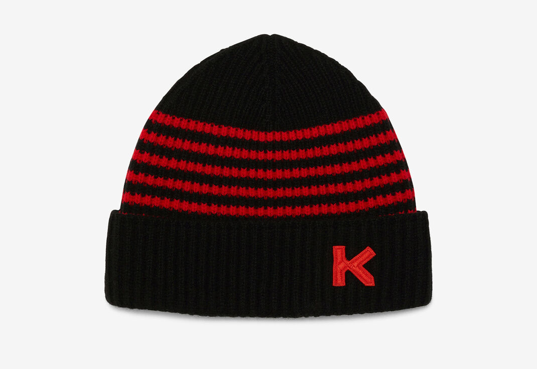 MEDIUM RED Wool beanie for unisex KENZO