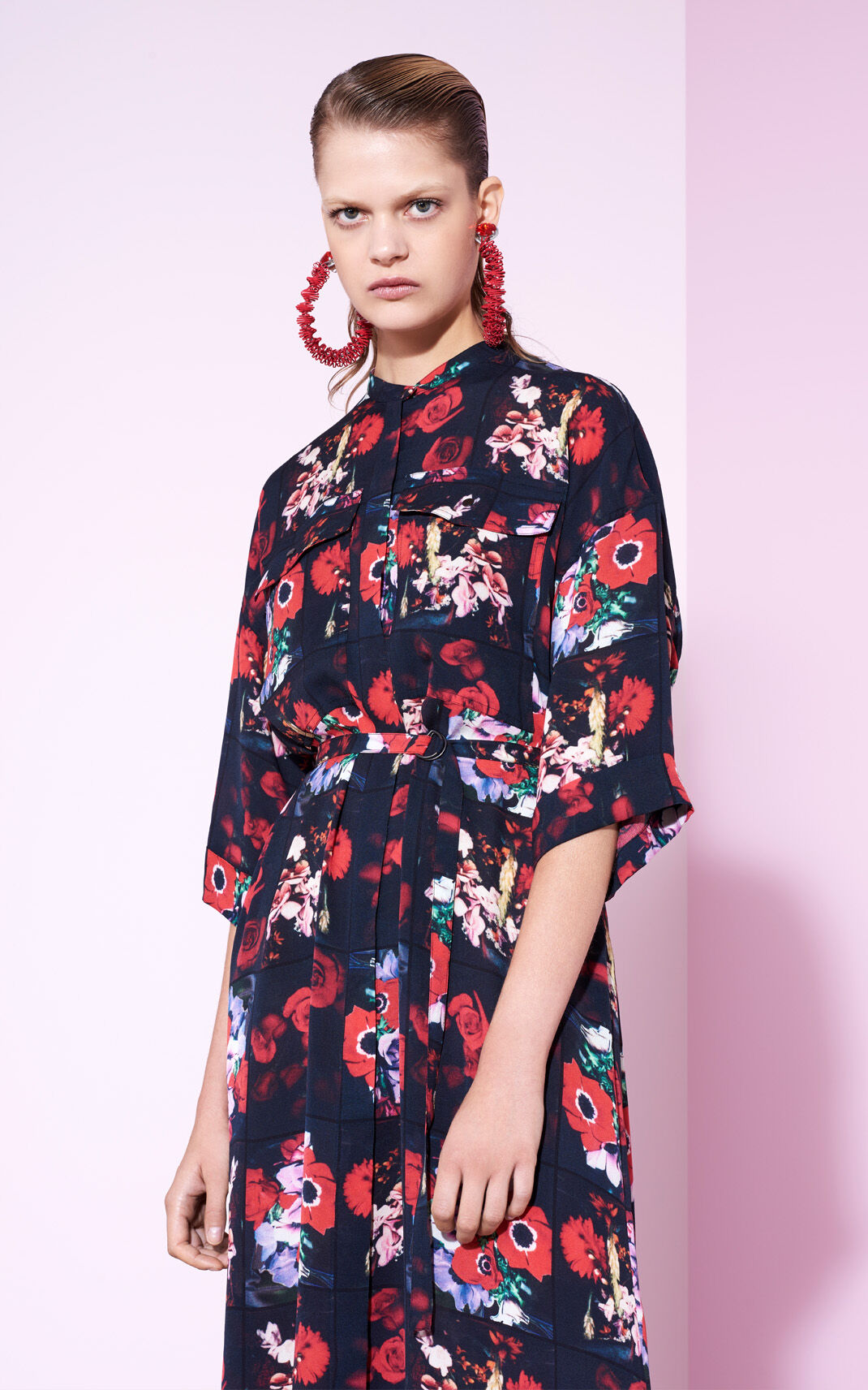 VERMILLION Silk Floral maxi dress for global.none KENZO