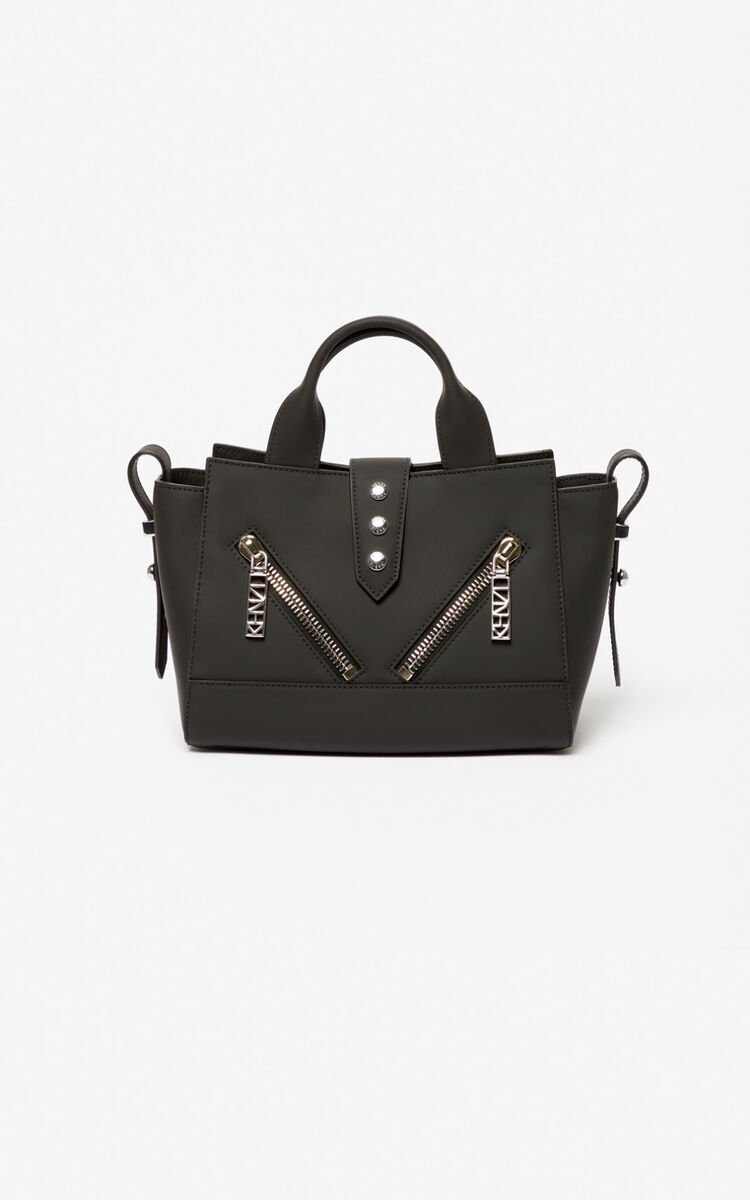 BLACK Mini Kalifornia bag Gommato leather for unisex KENZO