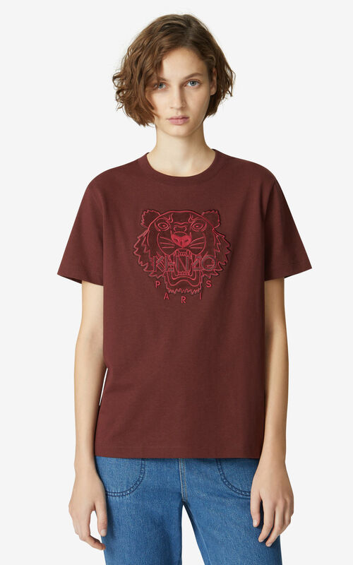 BORDEAUX Tiger loose T-shirt for women KENZO