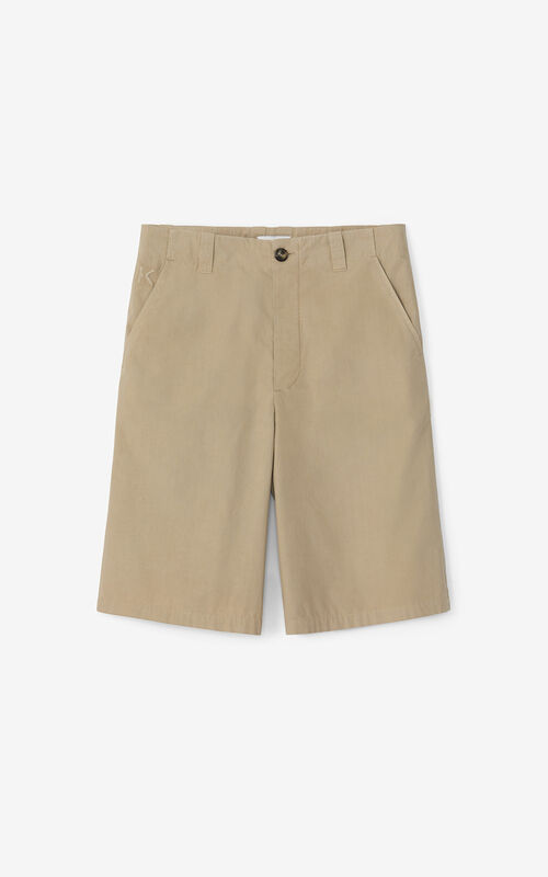 TAUPE 'High Summer Capsule' chino shorts for unisex KENZO